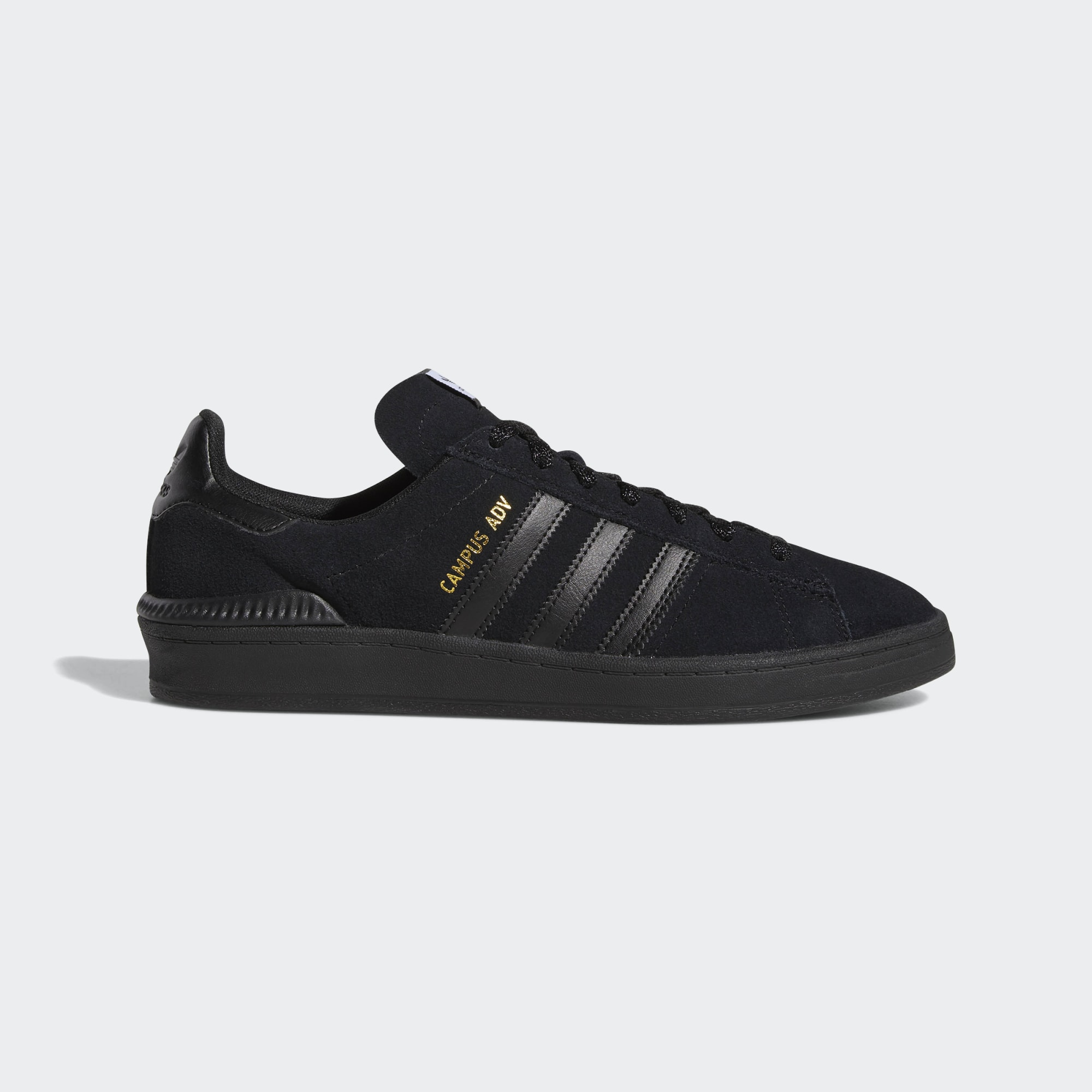 Adidas Campus ADV Shoes - Core Black / Ftwr White / Gold Met