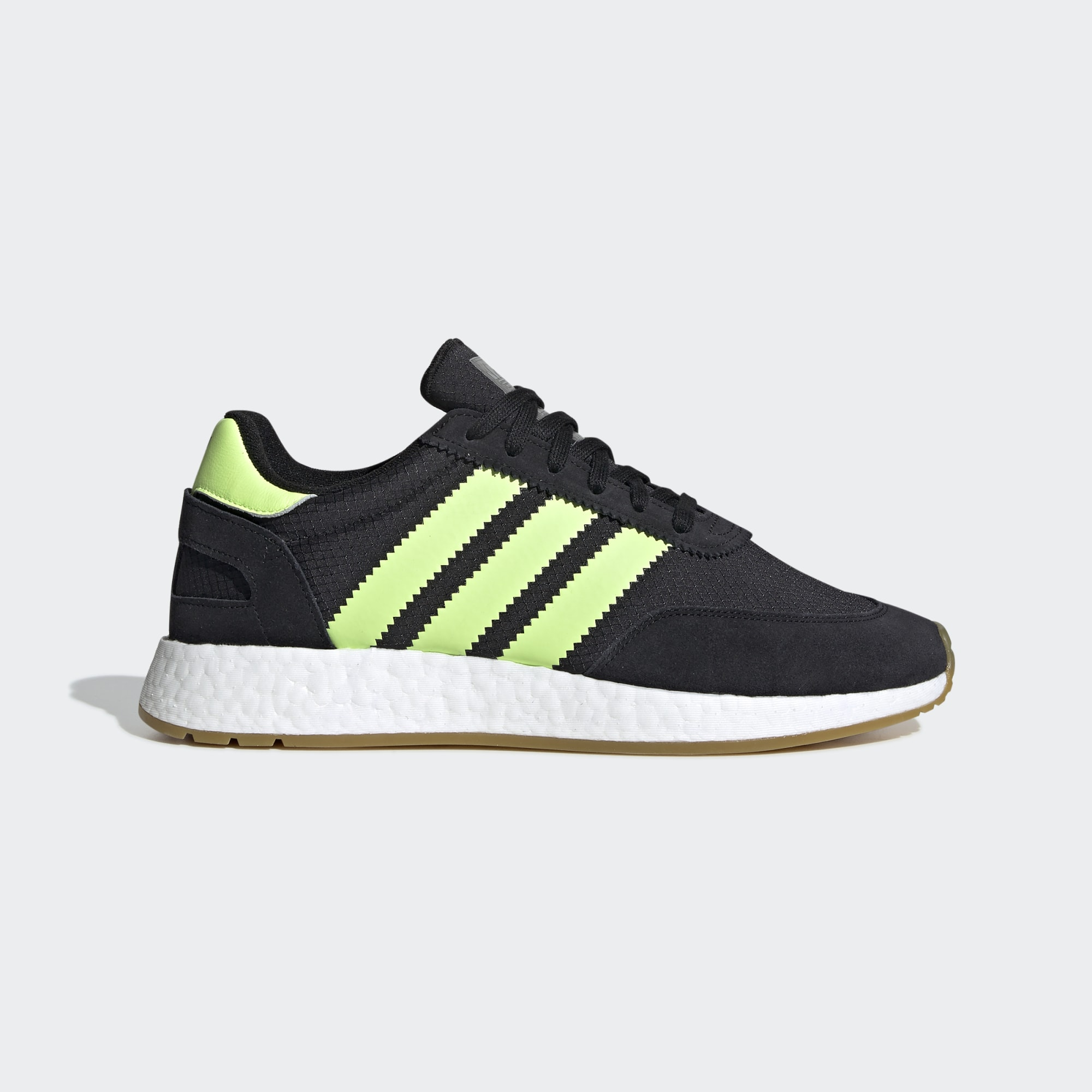 Adidas I-5923 Shoes - Core Black / Hi-Res Yellow / Gum