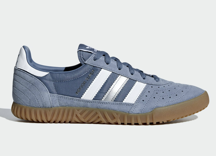 Adidas Indoor Super Shoes - Raw Steel / Ftwr White / Gum4