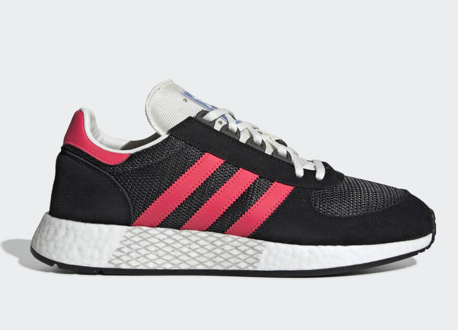 Adidas Marathon Tech Shoes - Carbon / Shock Red / Core Black