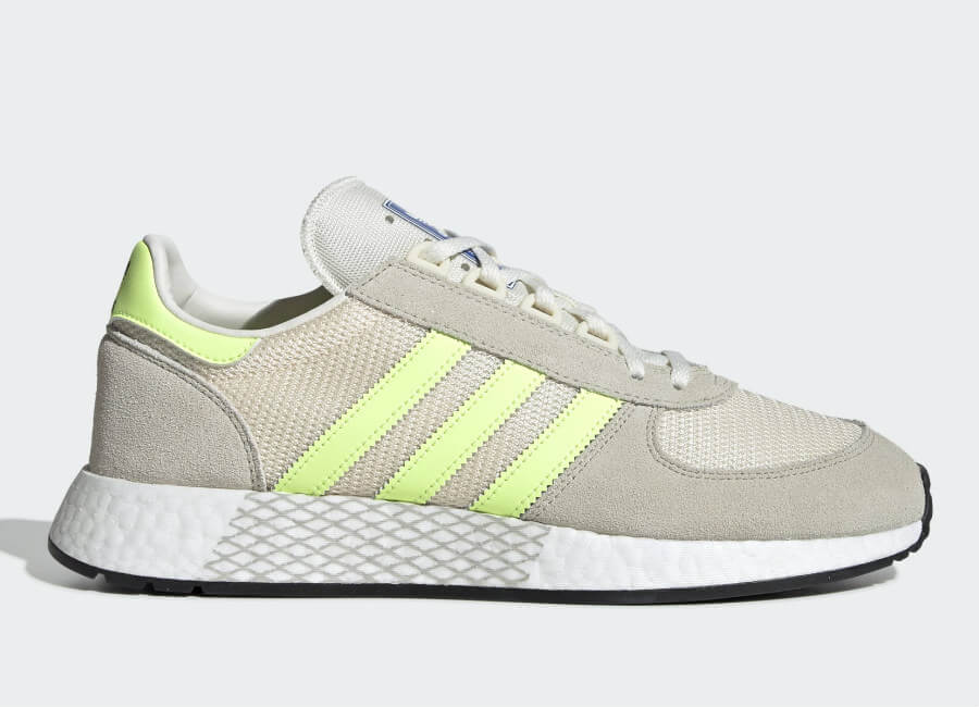 Adidas Marathon Tech Shoes - Clear Brown / Hi-Res Yellow / Ecru Tint