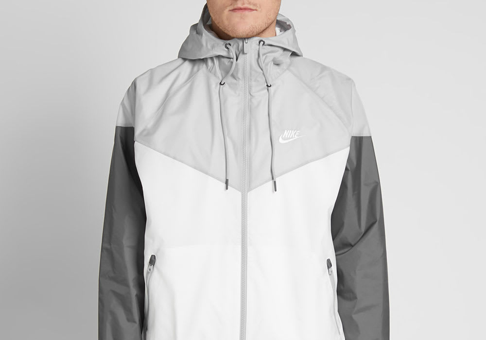 Nike Windrunner Jacket - White / Grey