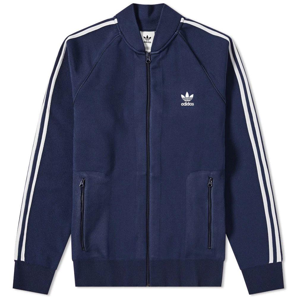 Adidas Knitted Track Top - Collegiate Navy