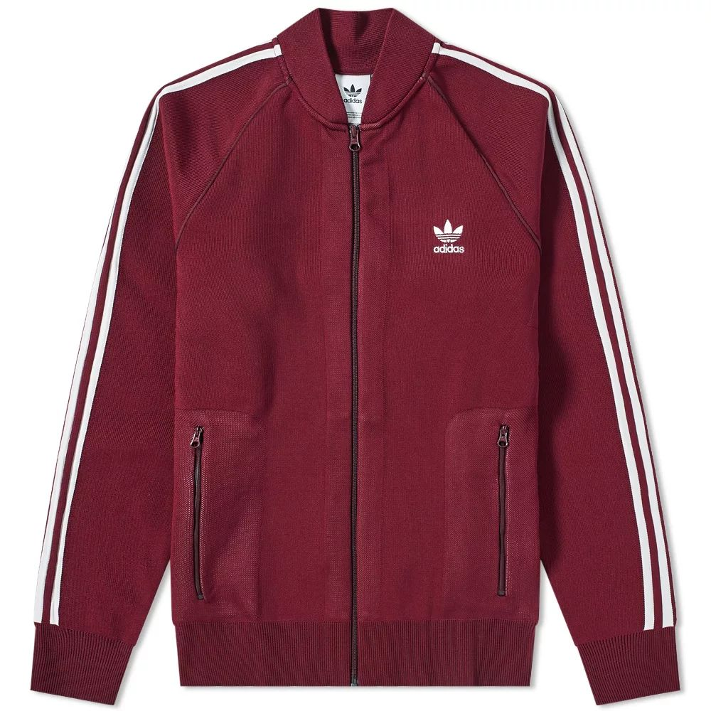 Adidas Knitted Track Top - Maroon