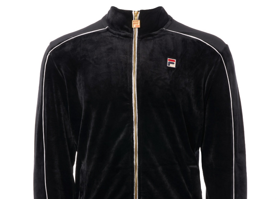 Fila Velour Lineker Track Top - Black / White
